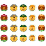 Marley Coffee K Cup Variety Bundle - 5 Different Flavors (20 Count) Featuring One Love, Buffalo Soldier, Mystic Morning, Catch A Fire, and Get Up, Stand Up