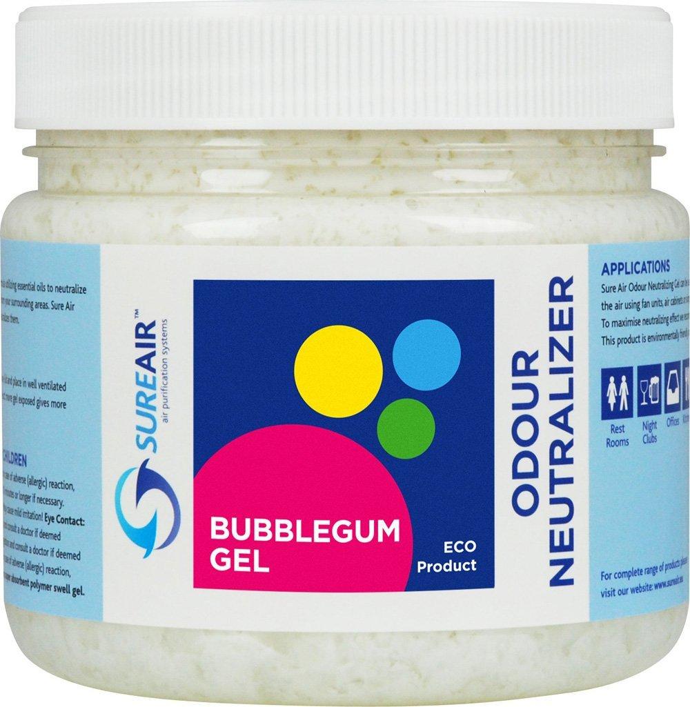 Sureair Odour neutralizer Gel Air freshener 1 Litre Bubblegum -removes Smells & Nasty Odours in Home, Office or Car -More Effective than Plugin Refill Air freshener