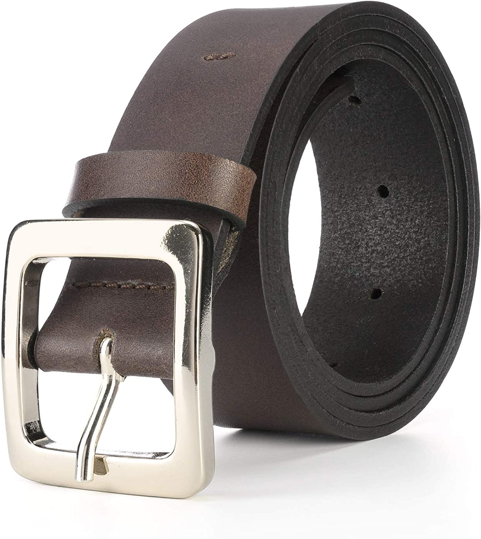 Cintura Uomo Pelle Vera Nera o Marrone 100/% Made in Italy di Alta Qualit/à Cuoio Toscano Cinta Artigianale per Pantalone Jeans o Elegante con Confezione Regalo Artigianale e Portachiavi Omaggio