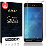 [3-Pack] ZenFone AR Screen Protector, J&D Glass Screen Protector [Tempered Glass] HD Clear Ballistic Glass Screen Protector for ASUS ZenFone AR - Protect Screen from Drop and Scratch