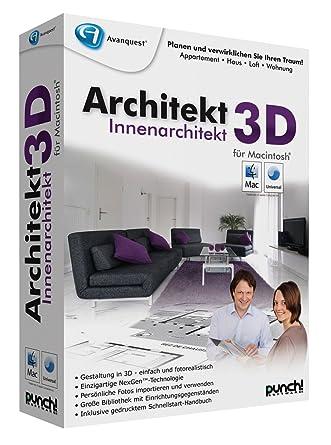 Innenarchitektur Computerprogramm architekt 3d innenarchitekt mac amazon de software
