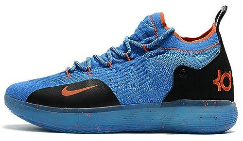 Kevin Durant KD 11 Zoom Thunder Royal Blue Orange Zapatos de