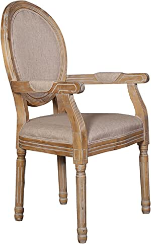 Amazon.com - Rustic Distressed Dining Room Chair, Round ...
