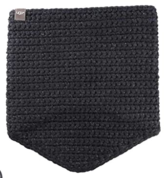 Ugg Womens Crochet Snood With Lurex Sequins Black Multi Scarf One