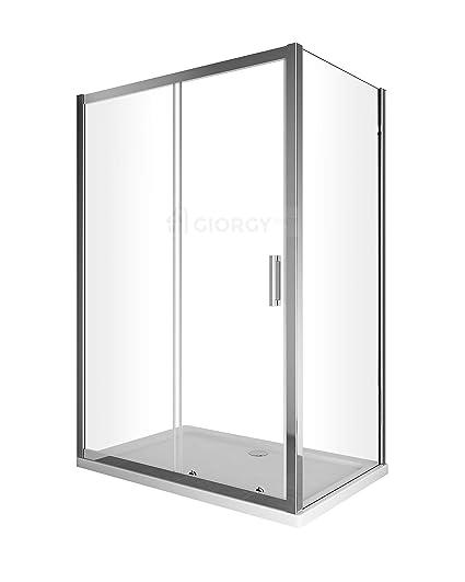 Cabina Doccia 80 X 90.Box Cabina Doccia 2 Lati Cristallo Fisso 70 75 80 90 Cm Porta