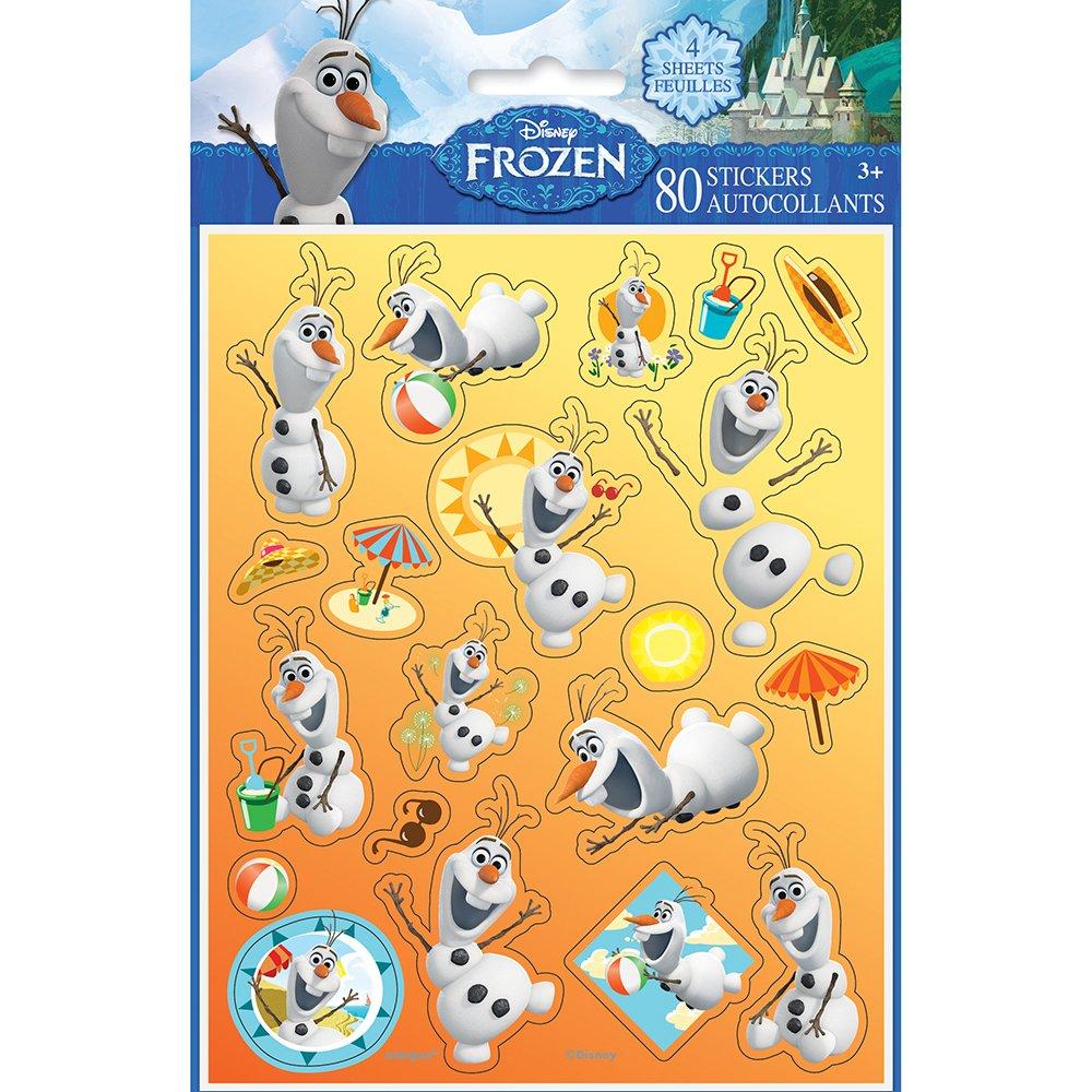 Amazon.com: Disney Frozen Olaf Sticker Sheets, 4ct: Toys & Games