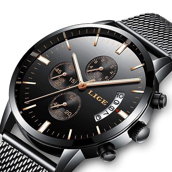 Reloj Analogico para Hombre de Cuarzo con Correa en Acero Inoxidable LG9872