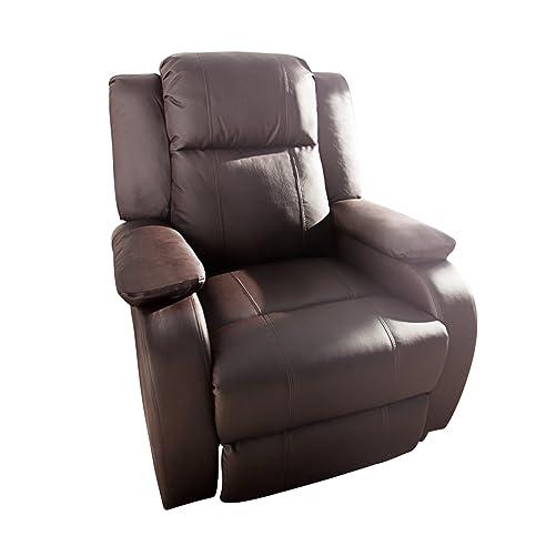 Moderner Relaxsessel HOLLYWOOD Kunstleder Braun Coffee Verstellbar Liegesessel Sessel Fernsehsessel Wohnzimmer Mit Liegefunktion