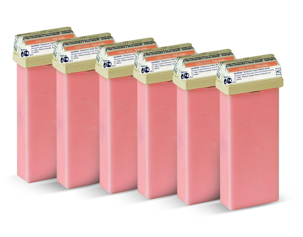 Beauty Image Pink Creme Warm Wax Roll On - Pack of 6 CEMSA 100002x6