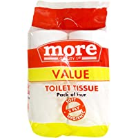 More Quality 1st Value Toilet Tissue Rolls - 10x10cm (2 Ply), 4x240 Pieces Pack