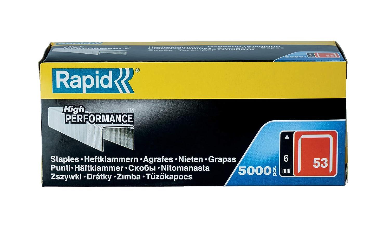 Grapas Rapid 53//6 mm Acero Galvanizado Pack de 5000