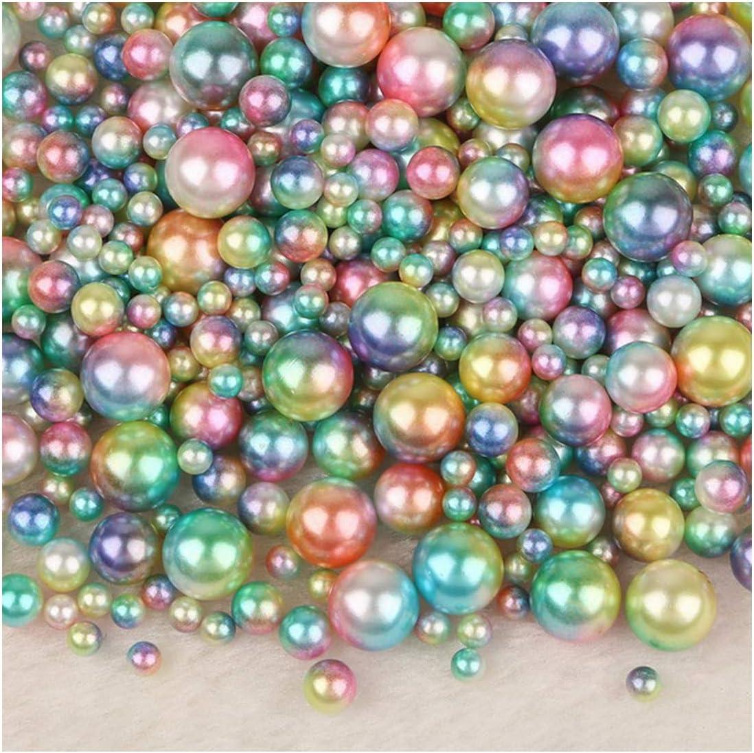 250pcs mezcla ABS Ronda de perlas de imitación perlas sueltas Sin agujero para la ropa de DIY Ropa Calzado granos de los accesorios Suministros, Style07