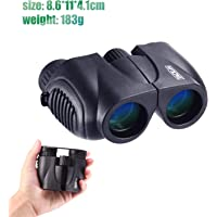 Tacklife Compact Folding 10x22 Binocular with Hand Strap and Carrying Bag (MBC03)