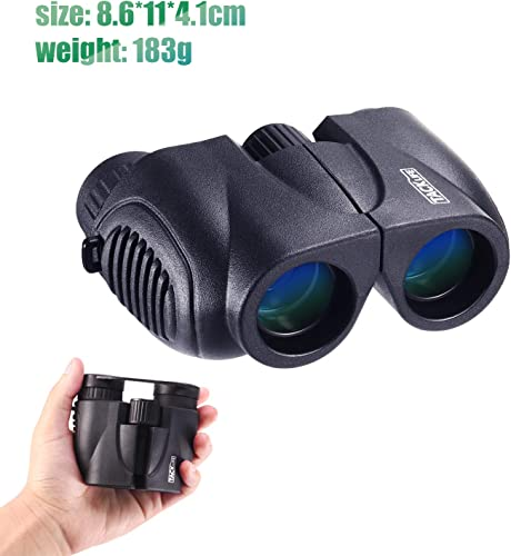 Binoculars, Compact Folding Telescope 10 x 22 with Dust Proof for Kids, Concert, Bird Watching, Traveling, Hand Strap and Carrying Bag Included – MBC03