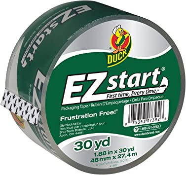Clear 8 Pack ... 1.88 Inches x 54.6 Yards Duck Brand EZ Start Packaging Tape