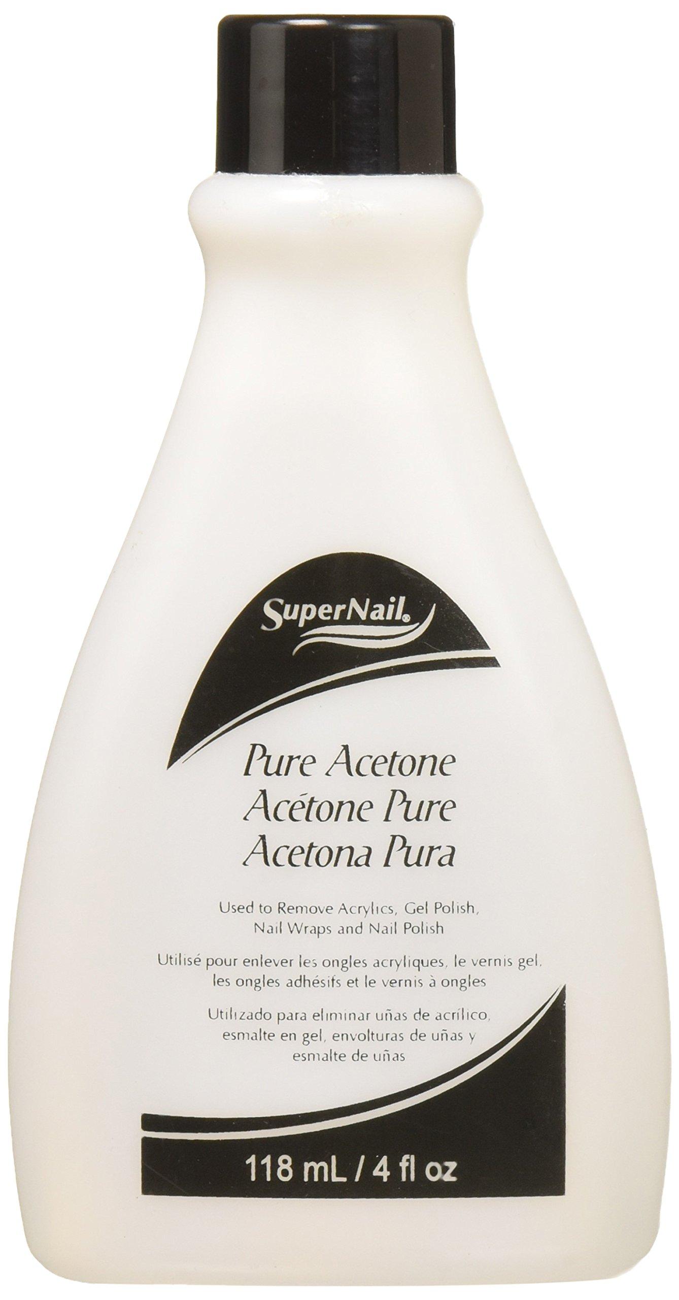 Super Nail Pure Acetone, 4 Fl Oz