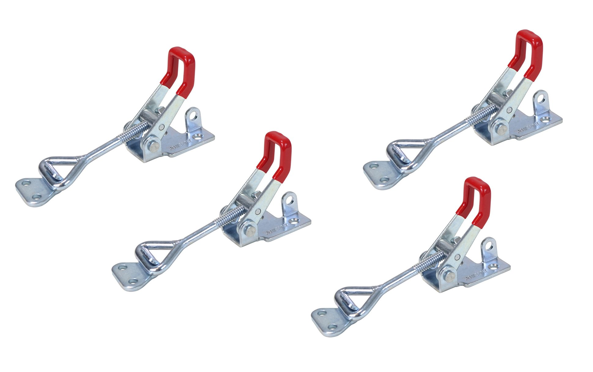 POWERTEC 20333 Pull-Action Latch Toggle Clamp, 400 lbs Capacity, 4002, 4PK