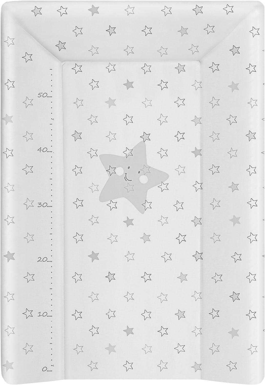 babyCalin Matelas /à Langer Luxe Etoile Rose 50 x 70 cm Avec toise imprim/ée