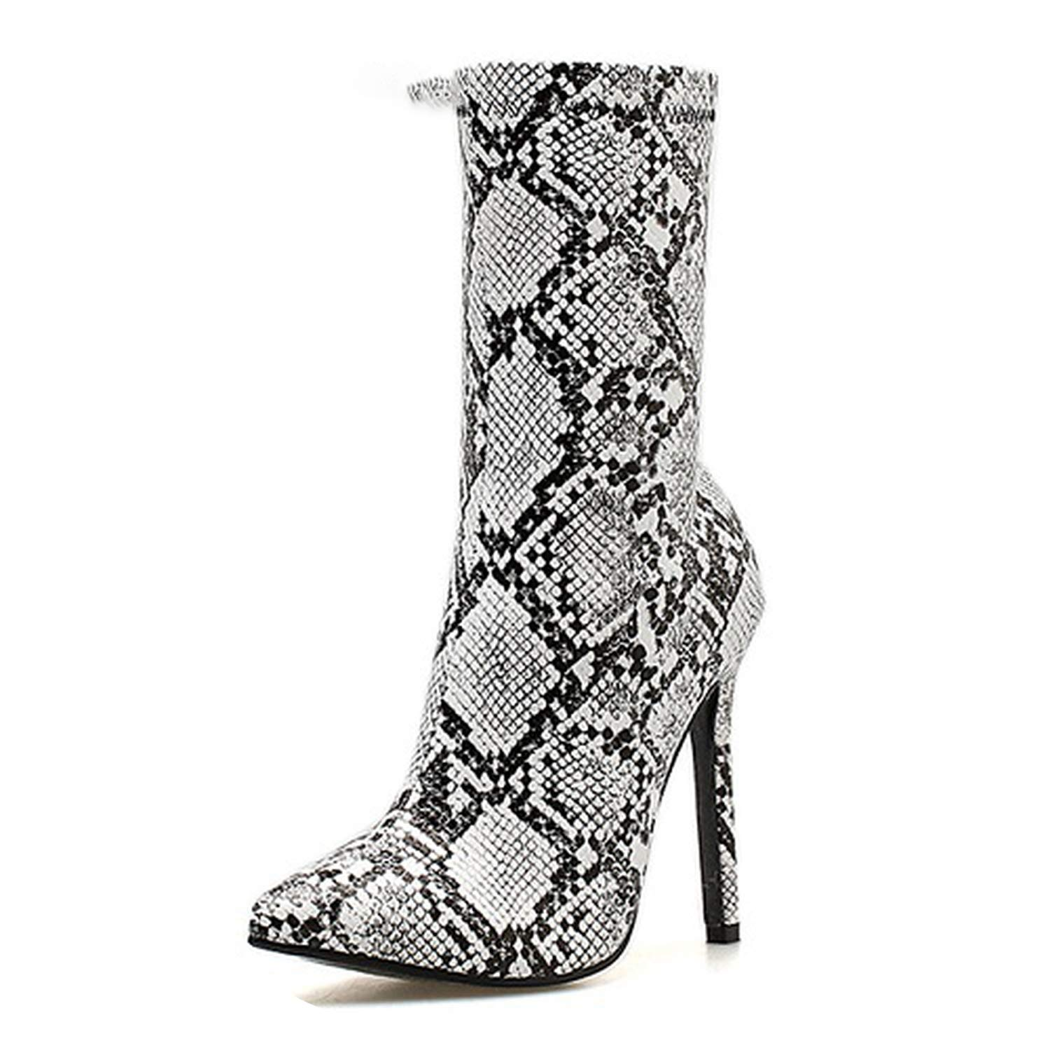 Men's/Women's Women Zipper Boots Snake Print Ankle Ankle Ankle Boots High Heels Pointed Toe Ladies Sexy Shoes Chelsea Boots Good design Sales Italy Don't worry when shopping WB26387 831688