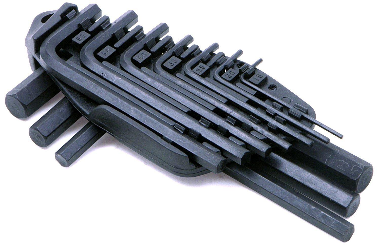 Rolson Hex Key Set, 1.5-10 mm - 10 Pieces 40352