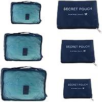 Bestomz 6adet Packtaschen seyahat çantası, çanta iç çamaşırı elbise ayakkabı düzenleyici