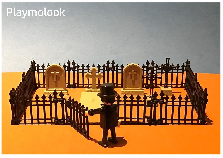 Valla cementerio miniatura escala playmobil, impresión 3D ...