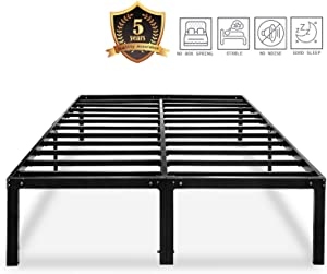 HAAGEEP Metal Platform Bed Frame Full with Storage 14 Inch Heavy Duty Beds Steel Slat Frames Standard Size, AF