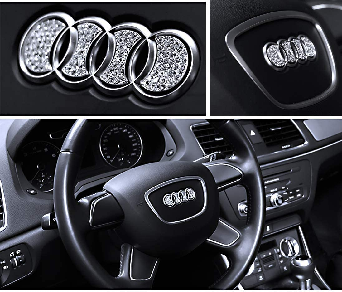 Bling Bling Car Steering Wheel Decorative Diamond Sticker Fit For Honda,DIY Bling Car Steering Wheel Emblem Bling Accessories for Honda