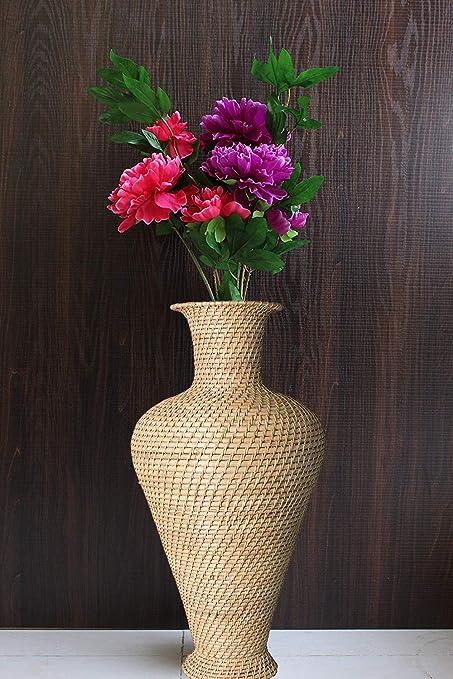 Amazon.in & Buy Northeast Handicrafts Cane Designer Decorative Long Flower Vase ...
