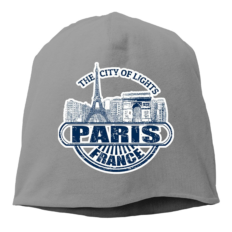 Souvenirs Of France Paris Eiffel Tower Thin Stretch Short Beanie Hat