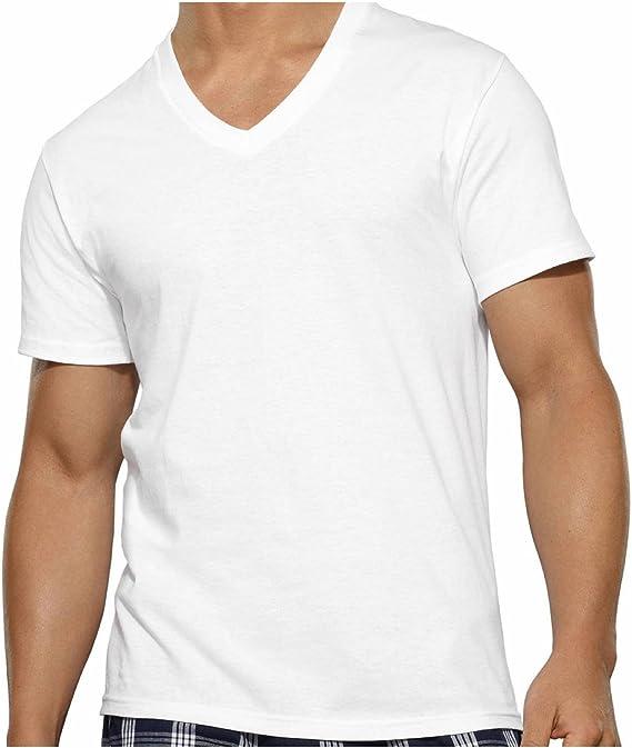 Fruit Of The Loom Camiseta Blanca para Hombres cuello en V (Paquete de 6 Unidades) Mediano: Amazon.es: Ropa y accesorios