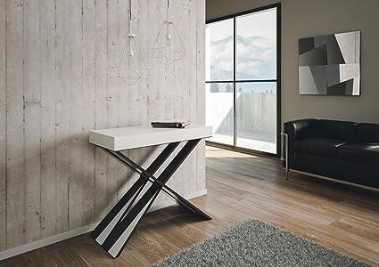 GROUP DESIGN consolle Diago tavolo allungabile bianco frassino legno ...