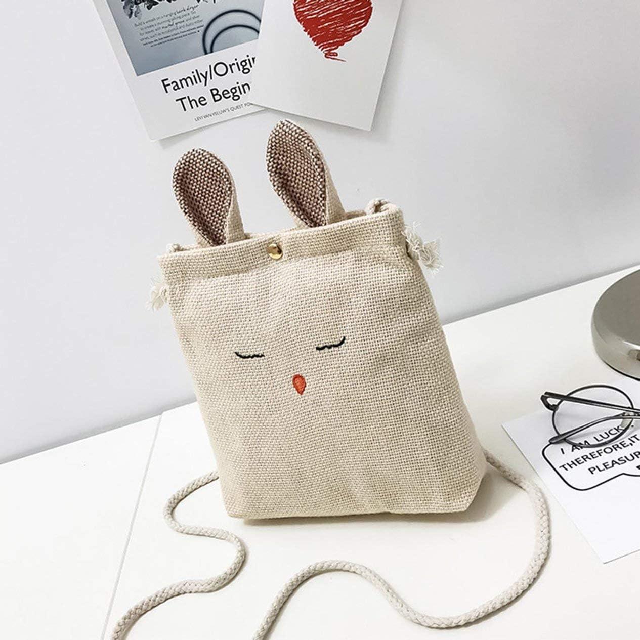 K026Rabbit earsLarge Capacity Shoulder Bag Canvas Bag Big Bag