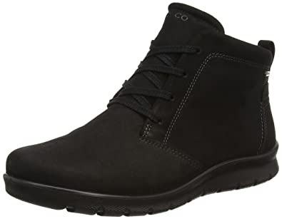b0946317ac ECCO Womens Babett Low Cut Lace Gore-Tex Nubuck Boots Black
