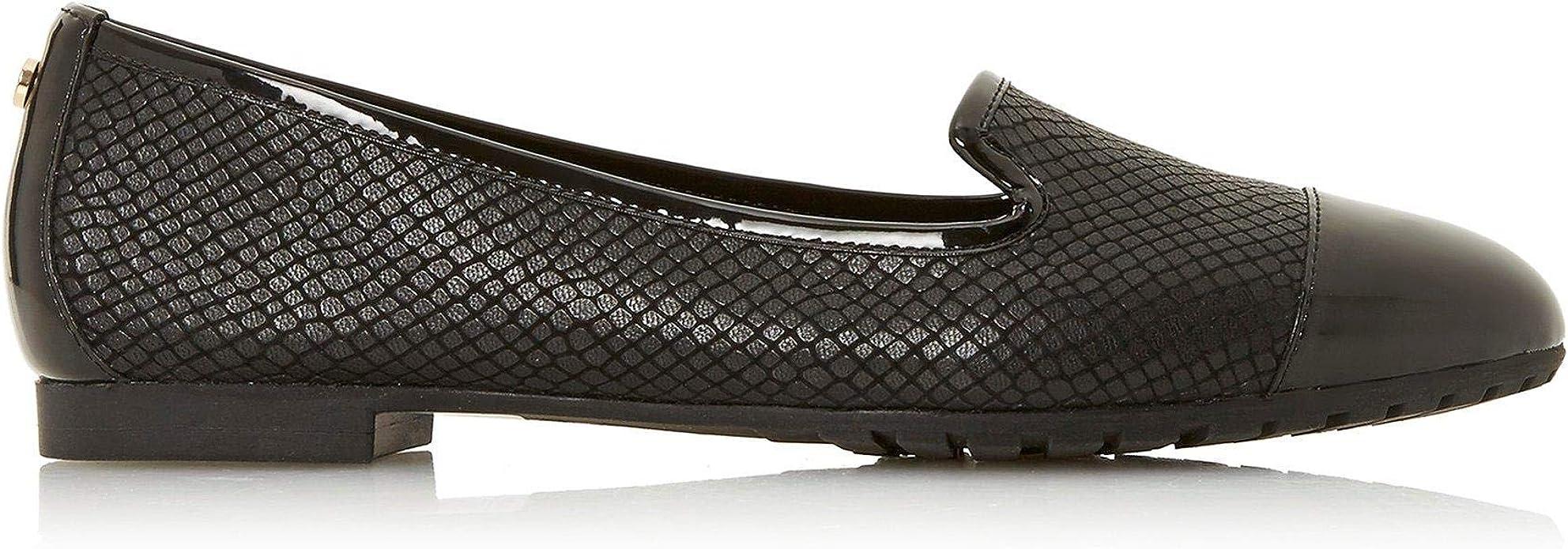 GENEVENE Slip On Trim Detail Flat Shoes