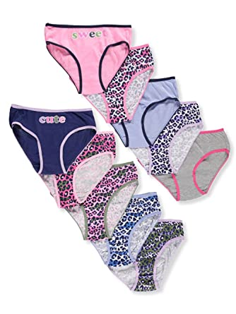 fb92151d34a68 Amazon.com  Sweet Princess Big Girls  10-Pack Bikini Panties  Clothing