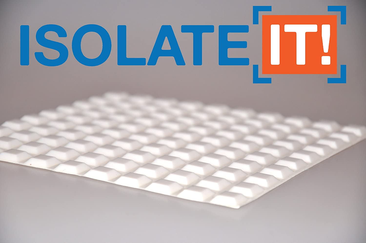 Isolate It!: Small White 12.7mm (0.5) W x 3mm (0.12) H - Square Cabinet and Furniture Bumper - 25 Pack 9800050-25