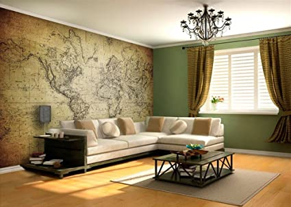 Wallpaper Wall Murals 768 X 512 Inches World Map Vintage