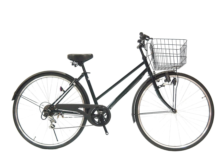 Lupinusルピナス 自転車 27インチ LP-276TD シティサイクル ダイナモライト シマノ製外装6段ギア ブラックリム 100%完成車 B00WS5LPOA クロムグリーン×マッドブラック クロムグリーン×マッドブラック