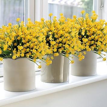 Amazon 6pack Artificial Flower Fake Yellow Daffodils Greenery