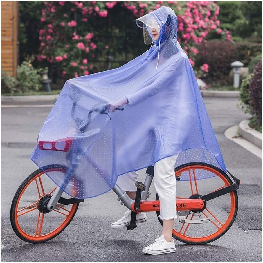 Full Protection with Visor Transparent Waterproof Cycling Rain Poncho Adult Rain Coat with Hoods and Sunshade Tarp Mobility Scooter Motorcycle Raincoat Rain Cover Reusable for Men Women Outdoor