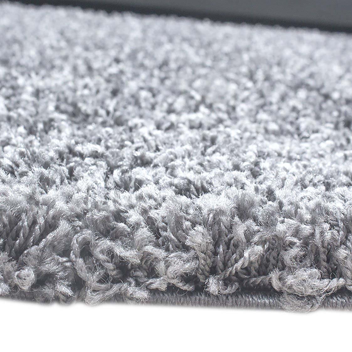 Carpetia Shaggy Teppich Hochflor Langflor Bettvorleger Wohnzimmer Teppich Teppich Teppich Läufer Uni hellgrau grau Größe 160x230 cm 0fcabf