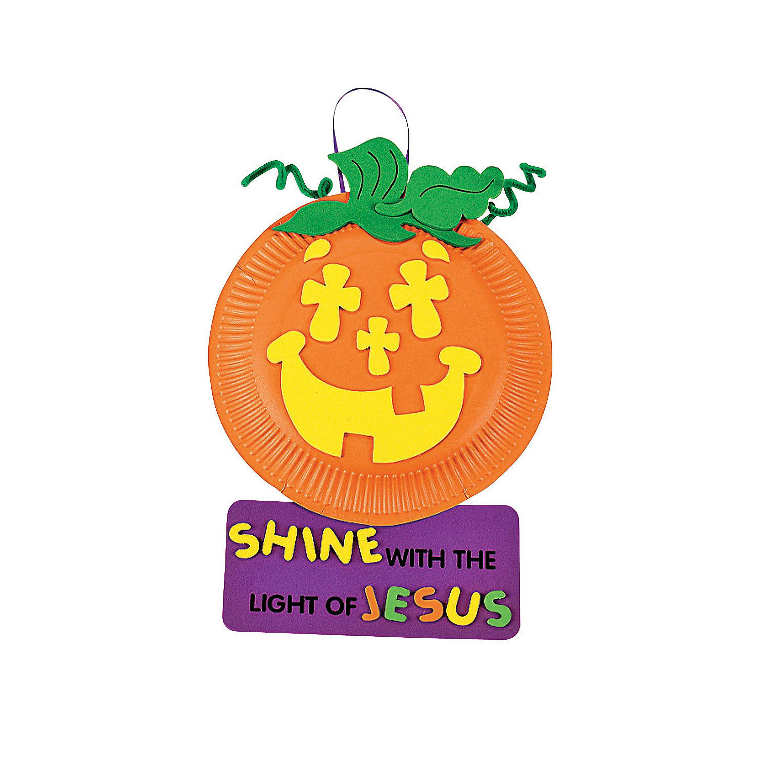 Paper Plate & Foam Christian Pumpkin Craft Kit
