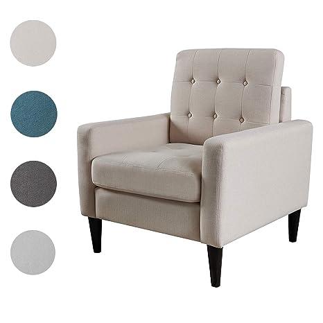 Terrific Top Space Mid Century Modern Accent Chair Single Sofa Living Room Furniture Arm Chair Home Seat White Machost Co Dining Chair Design Ideas Machostcouk