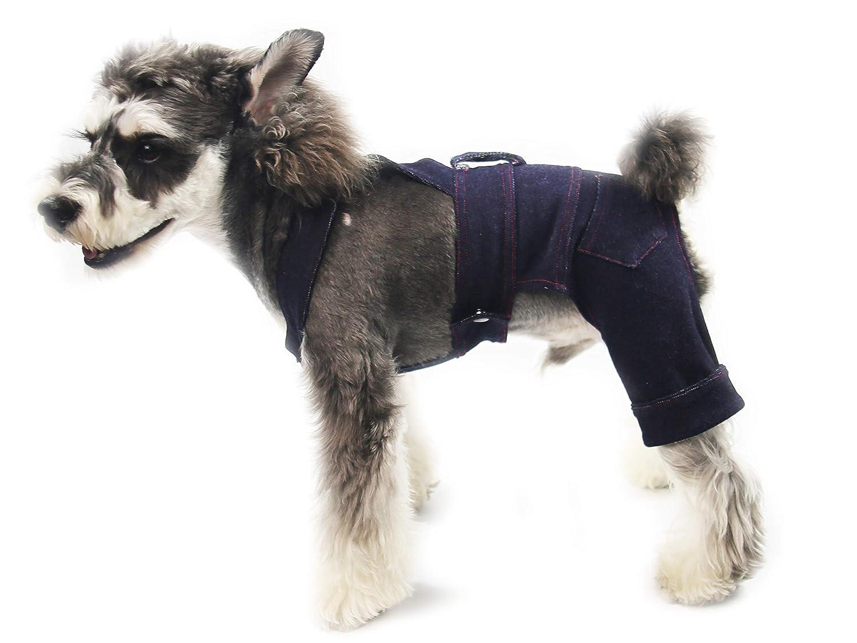 a9b8b6d75e04 Amazon.com   Gyapet Dogs Jeans Cloth Overalls Jumpsuits Pants Denim ...