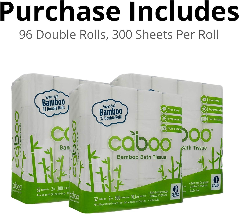Papel higiénico de bambú sin árbol Caboo con papel higiénico ...