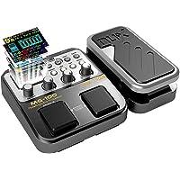 Asmuse NUX Mg100 Guitarra Eléctrica Multi Efectos Procesador de Pedal para Principiante Looper Amp EQ Mezclador Instrumento Guitarra Eléctrica Bajo Guitarra con Adaptador de Energía (Enchufe de la UE)