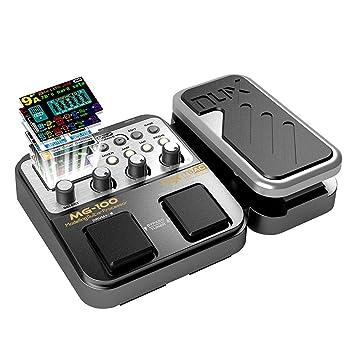 Asmuse NUX Mg100 Guitarra Eléctrica Multi Efectos Procesador de Pedal para Principiante Looper Amp EQ Mezclador