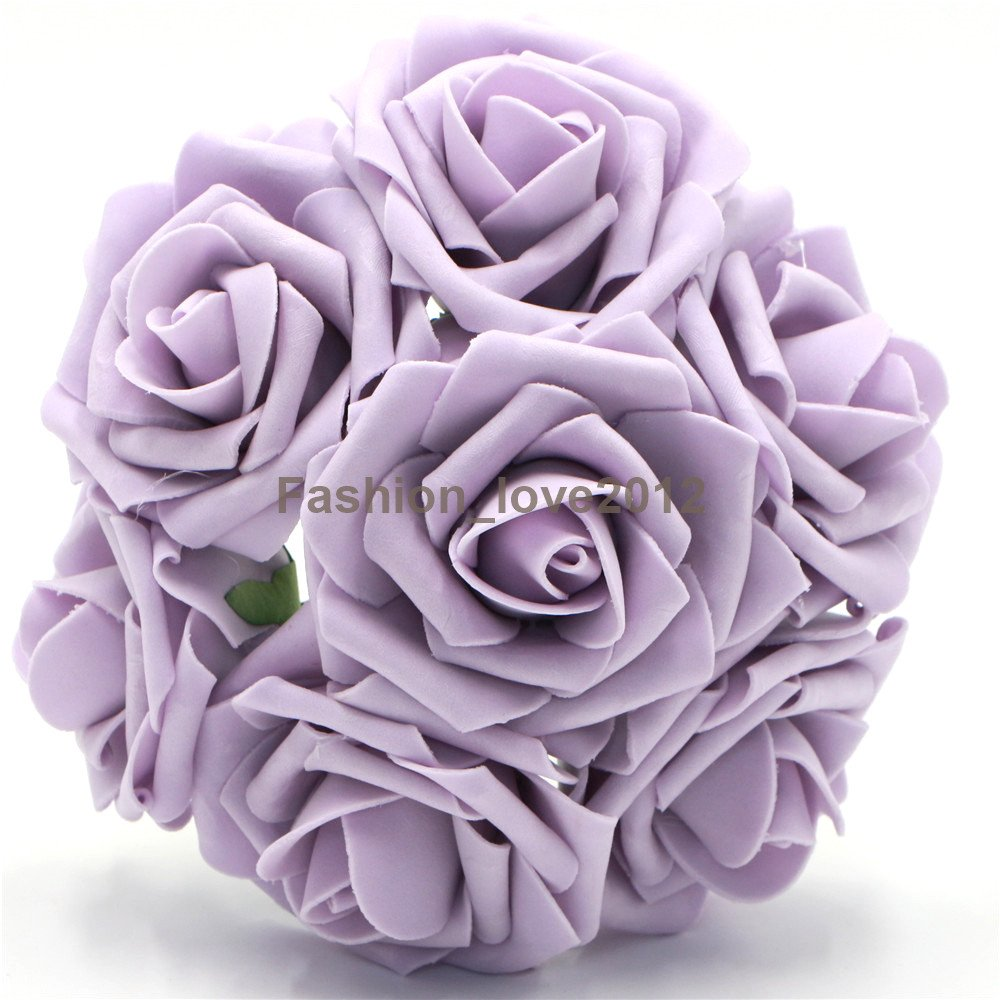 50 pcs Artificial Flowers Foam Roses Various Colors For Bridal Bouquet Bouquets Wedding Centerpieces Kissing Balls (Navy Blue) Rina ETEUW3023