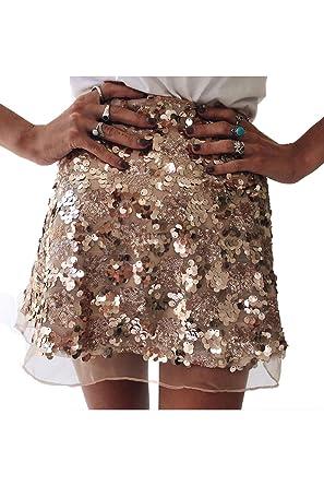 Zabmauek Lentejuelas para Mujer Una Falda de línea Faldas de ...